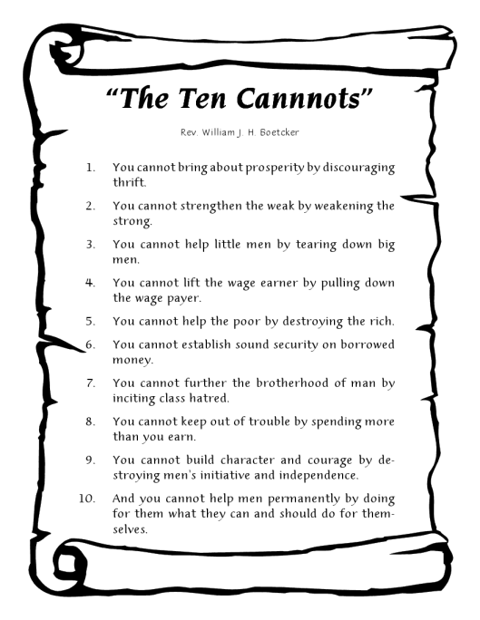 10 cannots