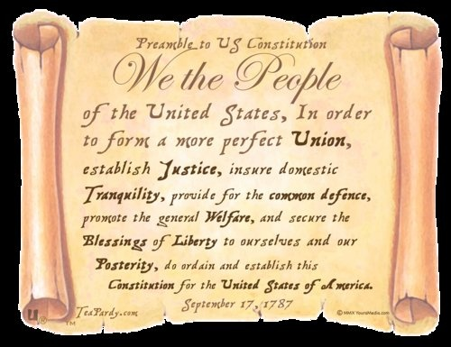 Yes : I Know The Preamble To The United States Constitution Story ...