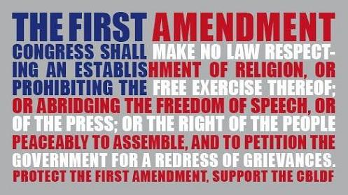 Rave if you support the 1st amendment