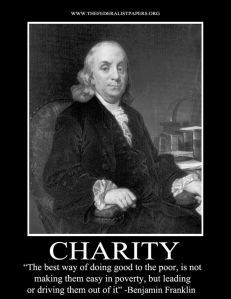 Ben Franklin on CHARITY