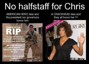 no halfstaff for Chris