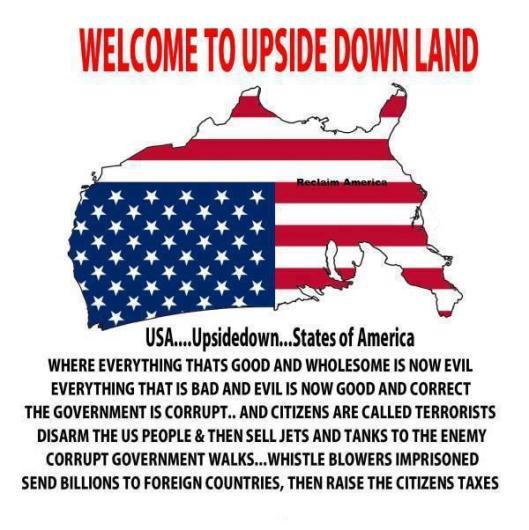 upsidedown land