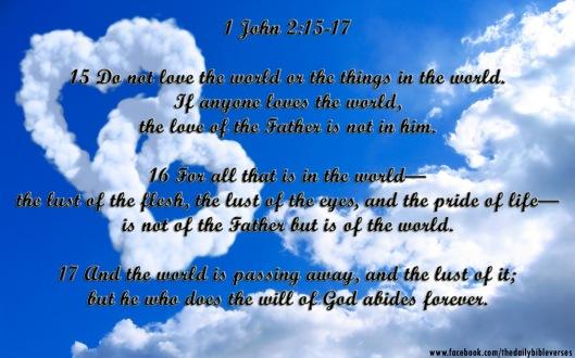 1John 2.15-17