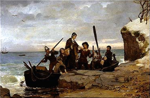 The-Landing-of-the-Pilgrims-by-Henry-A-Bacon-circa-1877