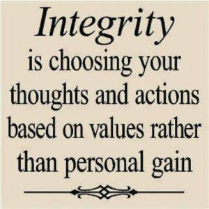 choosing integrity